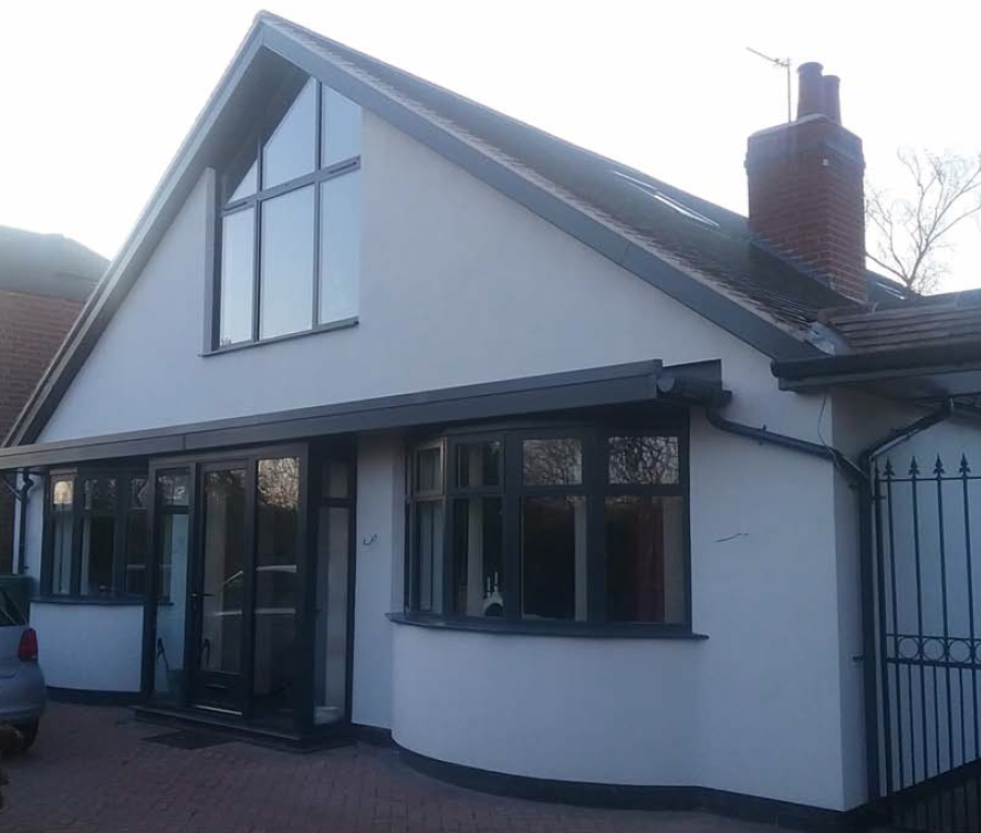 After renovation, roof extention and EWI installation
